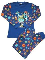 42D-8 пижама детская, темно-синяя