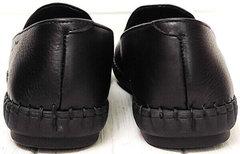 Кожаные слипоны мужские туфли спортивного стиля smart casual Broni M36-01 Black.