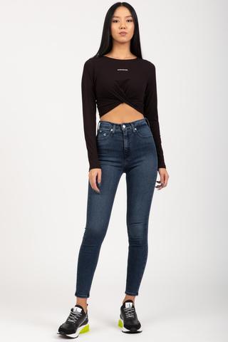 Лонгслив CROSSOVER HEM RIB LS TOP Calvin Klein Jeans