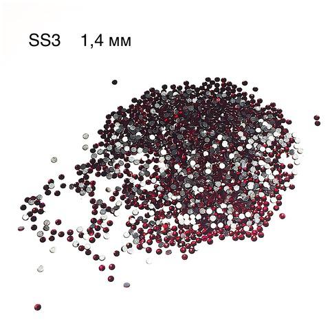 Стразы красные Crystal Swarovski SS3 (1.3 мм)) купить за 1350руб