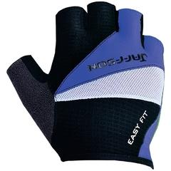 Велоперчатки JAFFSON SCG 46-0206 (чёрный/синий/белый)