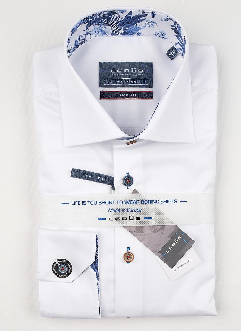 Рубашка Ledub slim fit 0138622-910-150-120