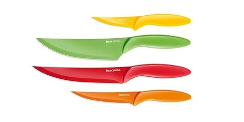Ножи с неприлипающим лезвием Tescoma PRESTO TONE, комплект 4 штуки