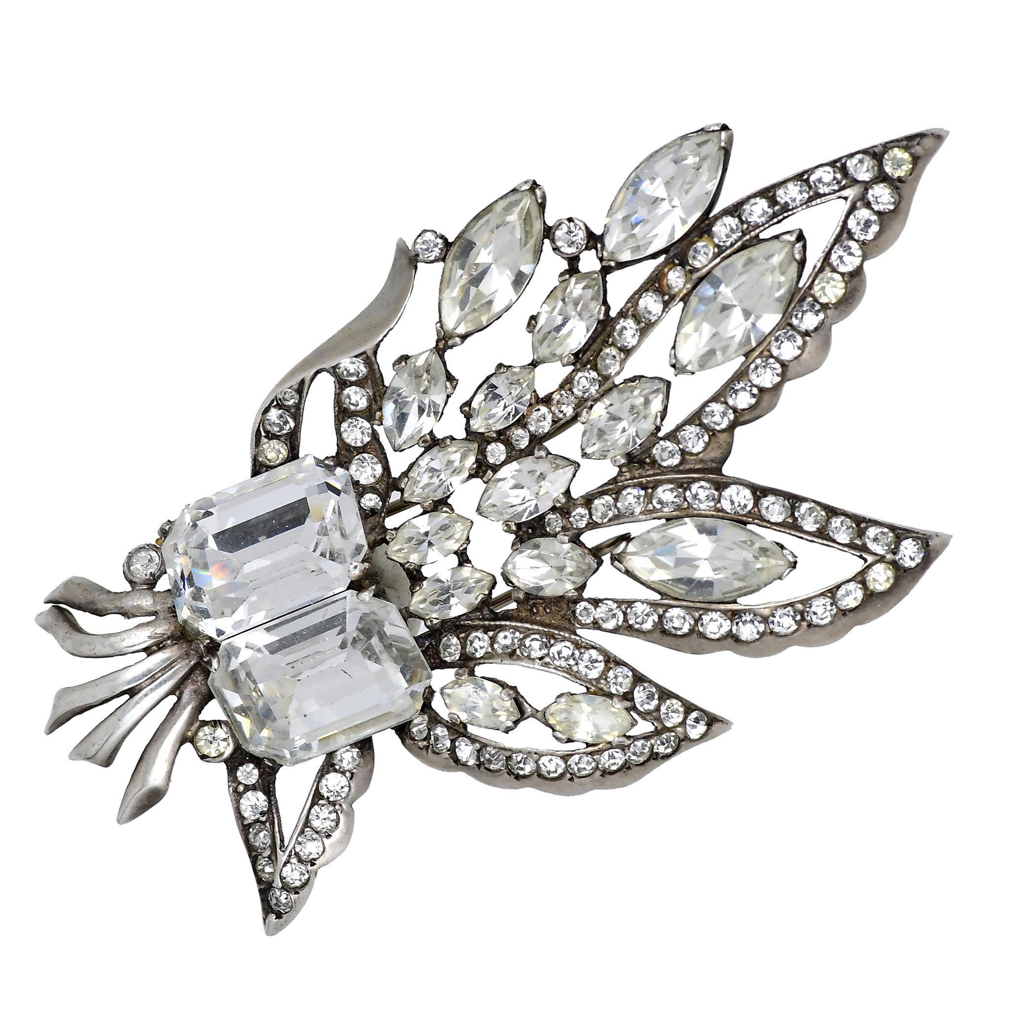 Коллекционный серебряный фур-клип Eisenberg 1940-е