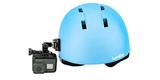 Крепления на шлем GoPro Helmet Front + Side Mount (AHFSM-001) на шлеме сбоку с камерой