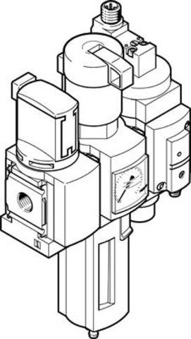 Блок подготовки воздуха, комбинация Festo MSB4-1/4:C3:J120:D14-WP