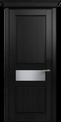 CLASSIC 534 Дуб Черный стекло Сатинато Белое