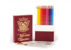 Набор художественных цветных карандашей POLYCOLOR RETRO 24 цвета в подарочном премиум-пенале в стиле 1й половины XX века