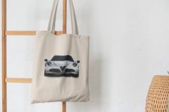 Сумка-шоппер с принтом Альфа Ромео (Alfa Romeo) бежевая 002