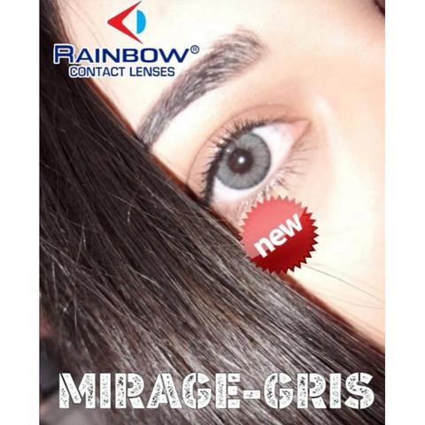 Темно серые линзы с окантовкой для карих глаз 3 мес Rainbow gris / Раинбов