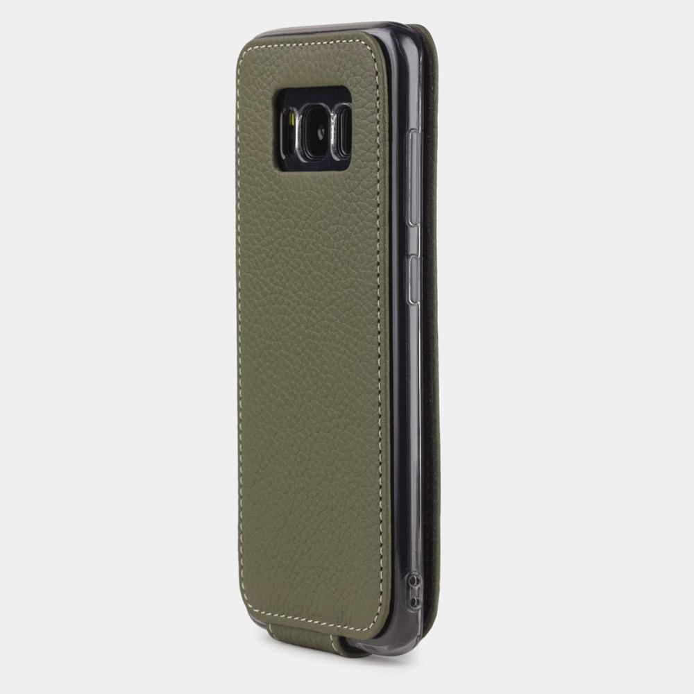 Чехол для Samsung Galaxy S8 Plus из натуральной кожи теленка, зеленого цвета