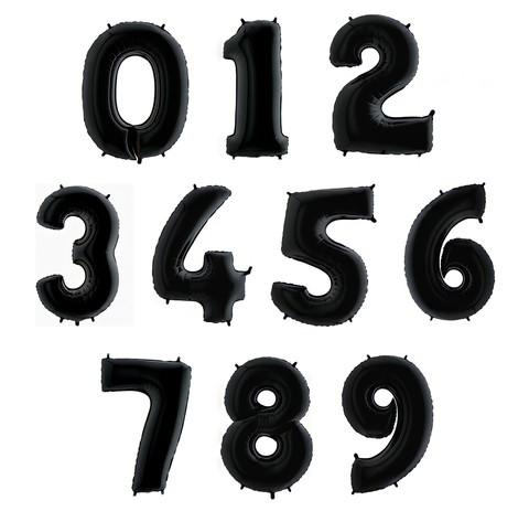 Фольгированные цифры черные