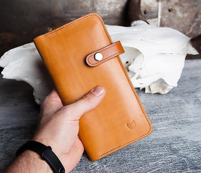 WB111-2 Длинный кошелек ручной работы из натуральной кожи. «Boroda Design» фото 08