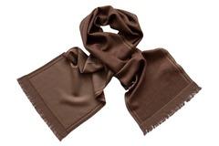 Шерстяной шарф коричневый 01121