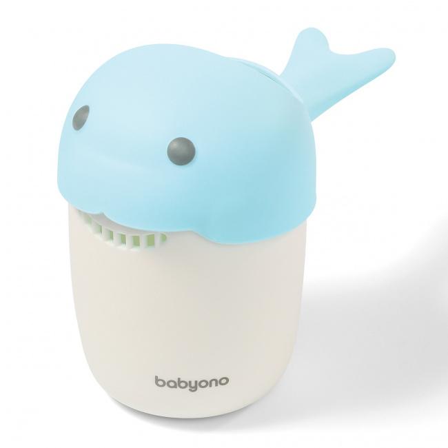 BabyOno - Кружка для ополаскивания WHALE, голубая