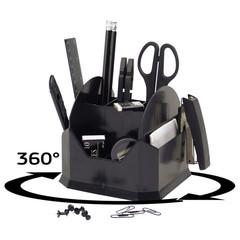 Настольный набор Attache черный 15 предметов вращающийся
