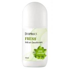 Дезодорант роликовый Deoproce освежающий с ароматом зелени 50 мл