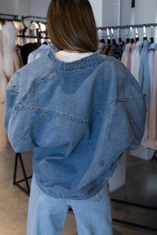 Куртка из синего денима недорого