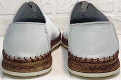 Модные туфли эспадрильи на толстой подошве стиль смарт кэжуал мужские летние Luciano Bellini 91724-S-304 All White.