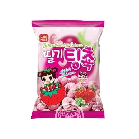 Кукурузные палочки со вкусом клубники 27г Cosmos Корея