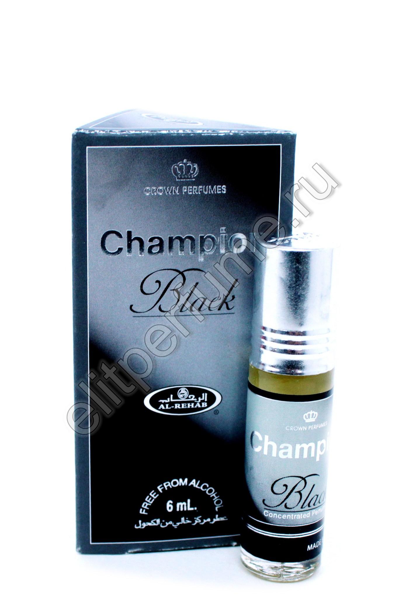 Champion Black Чемпион Блек 6 мл арабские мужские масляные духи от Аль Рехаб Al Rehab