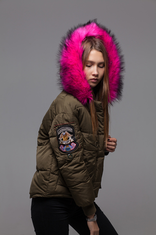 Куртка из плащевки на холлофайбере Nadya