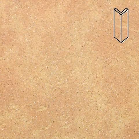 Stroeher - Keraplatte Roccia 834 giallo 157x60x60x11 артикул 9000 - Угловой клинкерный подступенок