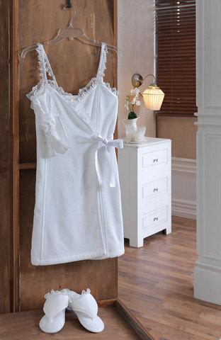 Набор женский для сауны 3 предмета  LUNA белая  Soft cotton Турция