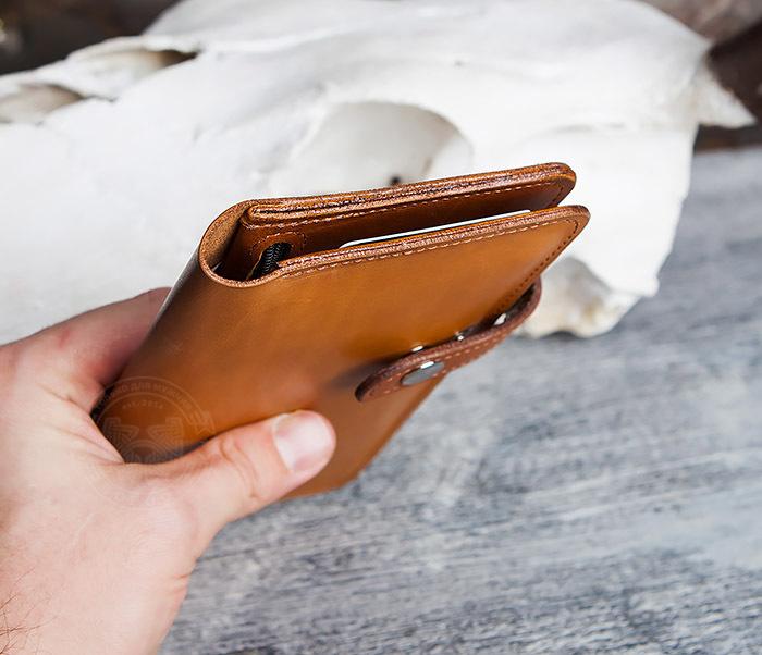 WB111-2 Длинный кошелек ручной работы из натуральной кожи. «Boroda Design» фото 09