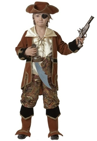 Костюм Капитан пиратов коричневый
