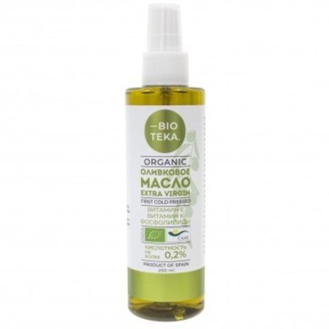 Биотека Органическое оливковое масло-спрей Extra Virgin, 200 мл