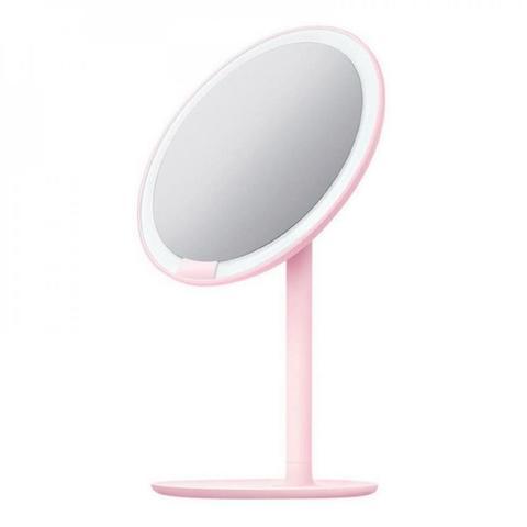 Зеркало косметическое настольное Xiaomi Amiro Lux High Color Розовый (AML004P) с подсветкой