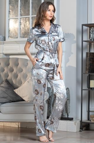 Комплект брючный 2 предмета Mia-Amore PARIS PIONS ПАРИЖ ПИОН 8994 серый