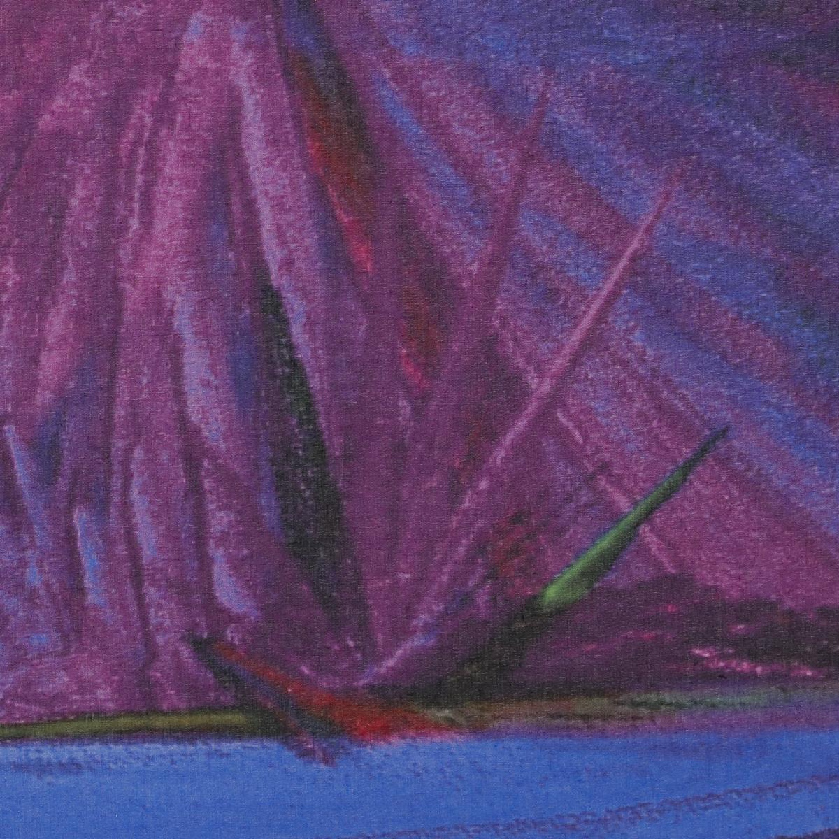 Тонкий полупрозрачный батист с абстрактным рисунком