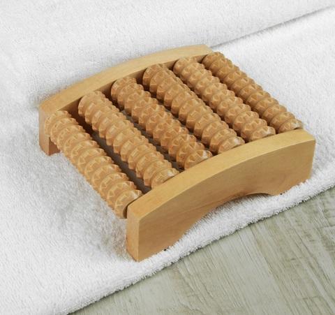 Массажёр для ног «Ножное счастье», 6 рядов, деревянный