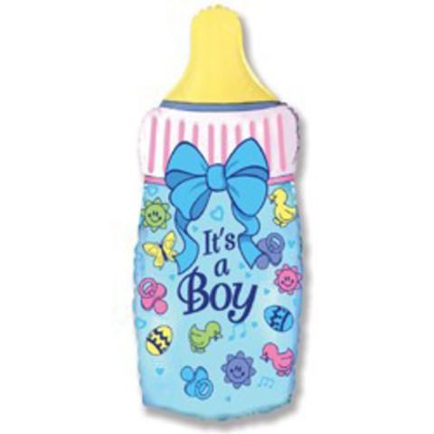 Фольгирвоанный шарик бутылочка it's a boy