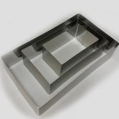 Набор прямоугольных форм для выкладки, выпекания 3 шт (15х5, 20х10, 25х15 H4.5см)