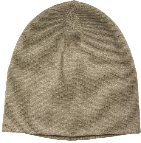 Зимняя шапка короткая цвета бежевый меланж