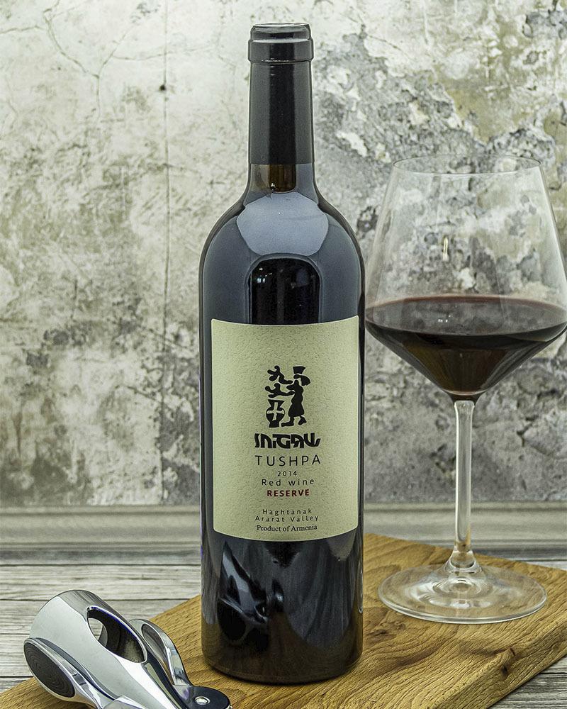 Вино Tushpa Красное Cухое Резервное 2014 г.у. 12,8% 0,75 л.