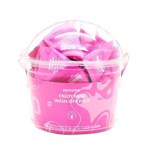 Успокаивающая маска с каламином для лица AYOUME  Enjoy Mini Wash-Off Pack 1 пакетик - 3 гр