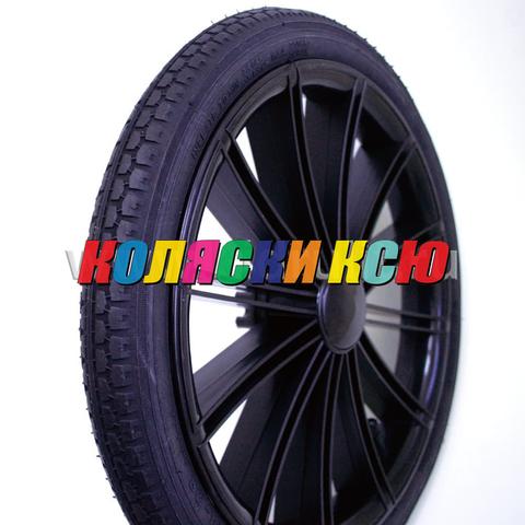 Колесо для детской коляски №003086 надув 14 дюймов (44-288) 14х1 3/8х1 5/8 с тормозной шестеренкой.