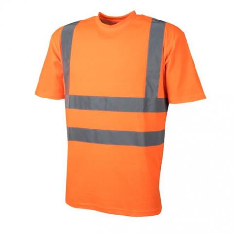 Футболка сигналиста железнодорожника светоотражающая оранжевая