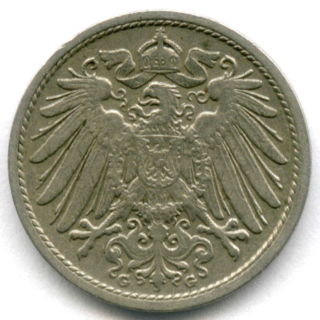 10 пфеннигов 1907 г. G Германия М-н VF-XF