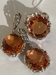 Аида (кольцо + серьги из серебра)