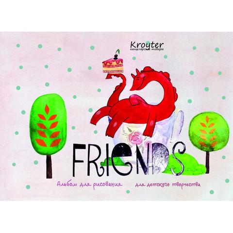 Альбом для рисования Kroyter Друзья А5 40 листов