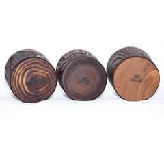 Набор бокалов для виски из дерева «Сибирский вяз», 3 шт, фото 3