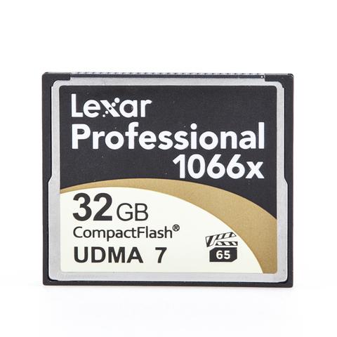CompactFlash CF 32 Gb Lexar Professional 1066x