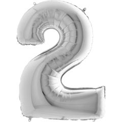 Цифра 2 (Серебряная)