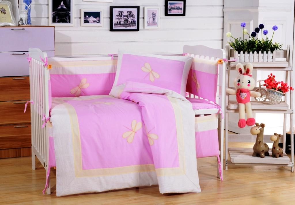 Постельное белье  в детскую кроватку Комплект постельного белья  в кроватку с бортиком ТМ Вальтери Россия DK-23 dk-23.jpg