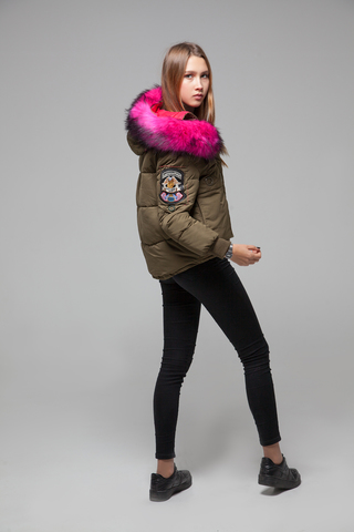 Куртка из плащевки на холлофайбере магазин